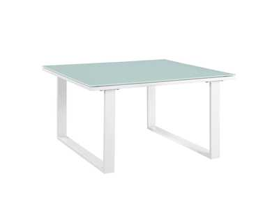 Image for Fortuna White Outdoor Patio Side Table