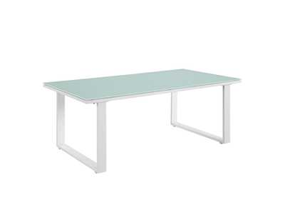 Image for Fortuna White Outdoor Patio Coffee Table