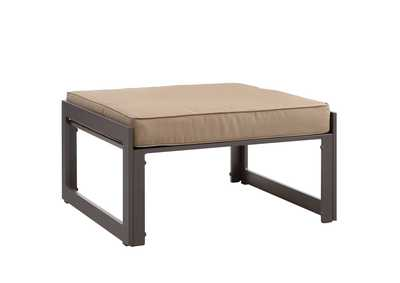 Image for Fortuna Brown Mocha Outdoor Patio Ottoman