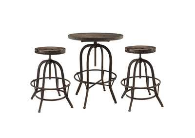 Image for Gather Brown 3 Piece Dining Set