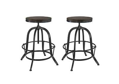 Image for Collect Black Bar Stool [Set of 2]
