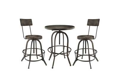 Image for Gather Black 3 Piece Dining Set