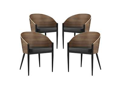 Cooper Walnut Dining Chairs [Set of 4]