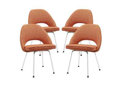 Cordelia Orange Dining Chairs [Set of 4]