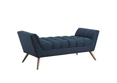 Image for Response Azure Blue Medium Upholstered Fabric Bench