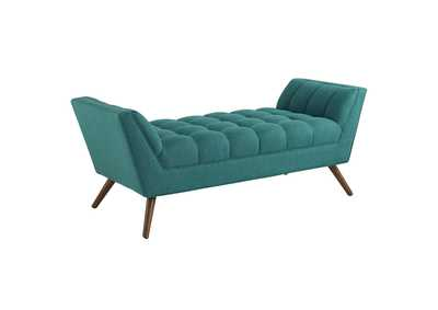 Image for Response Teal Medium Upholstered Fabric Bench