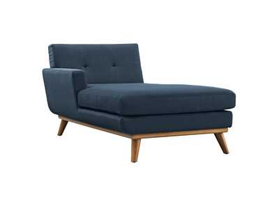 Image for Engage Azure Blue Left-Facing Upholstered Fabric Chaise