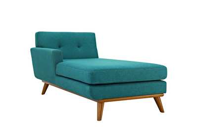Image for Engage Teal Left-Facing Upholstered Fabric Chaise