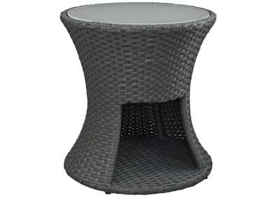 Image for Sojourn Chocolate Round Outdoor Patio Side Table
