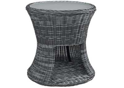 Image for Summon Gray Round Outdoor Patio Side Table