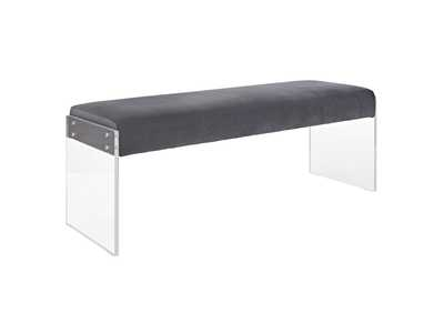 Image for Roam Gray Performance Velvet Bench