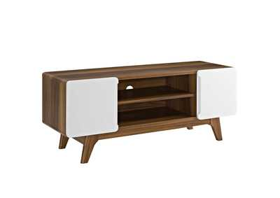 "Image for Tread Walnut White 47"" TV Stand"