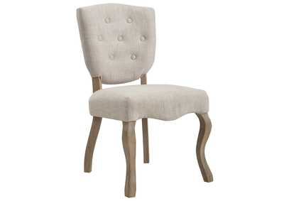 Image for Array Beige Vintage French Upholstered Dining Side Chair