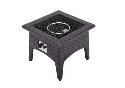 Image for Vivacity Espresso Outdoor Patio Fire Pit Table