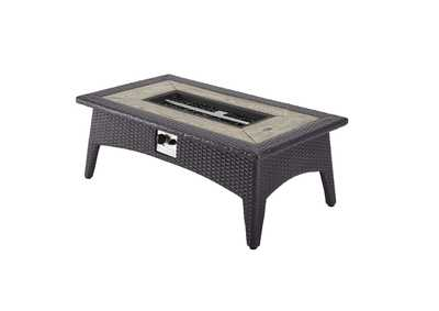 "Image for Splendor Espresso 43.5"" Rectangle Outdoor Patio Fire Pit Table"