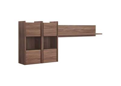 Image for Visionary Walnut Wall Mounted Shelves
