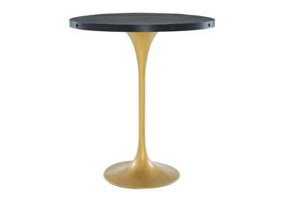 Drive Black Gold Wood Bar Table