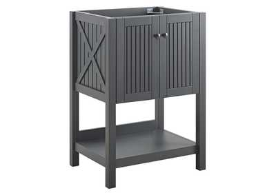 "Image for Steam Gray 23"" Bathroom Vanity Cabinet (Sink Basin Not Included)"