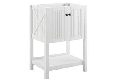 "Image for Steam White 23"" Bathroom Vanity Cabinet (Sink Basin Not Included)"