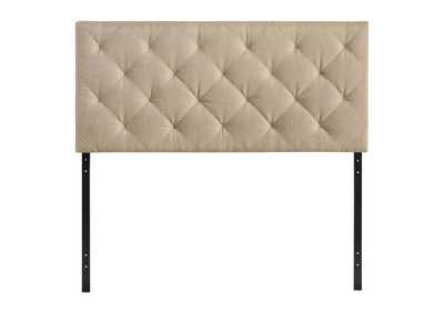 Image for Theodore Beige Queen Upholstered Fabric Headboard