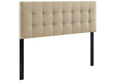 Image for Lily Beige King Upholstered Fabric Headboard