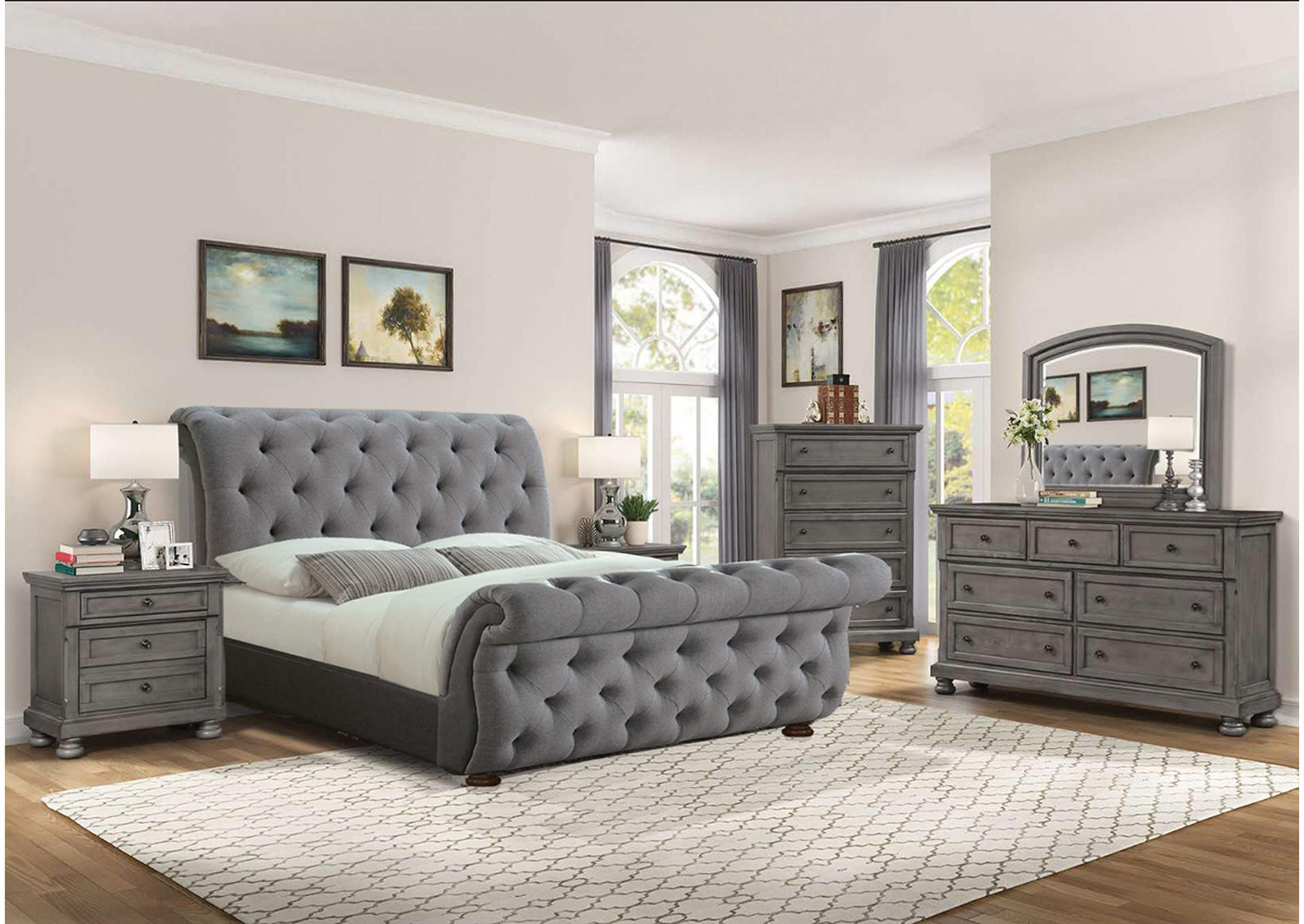 B110 Coral Reef Queen Bed,Nationwide