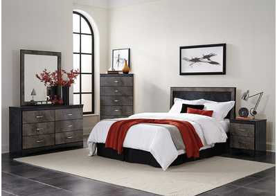 Image for B675 Mist Gray Queen/Full Panel Head Board