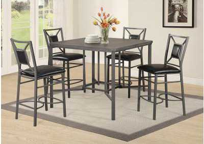 Image for D316 Akaroa Pub Table & 4 Pub Chairs - D316