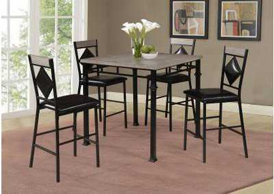 Image for D370 Pharlap Pub Table & 4 Pub Chairs - D370