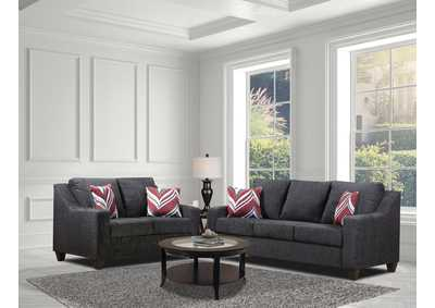 Image for Black Sofa and Loveseat