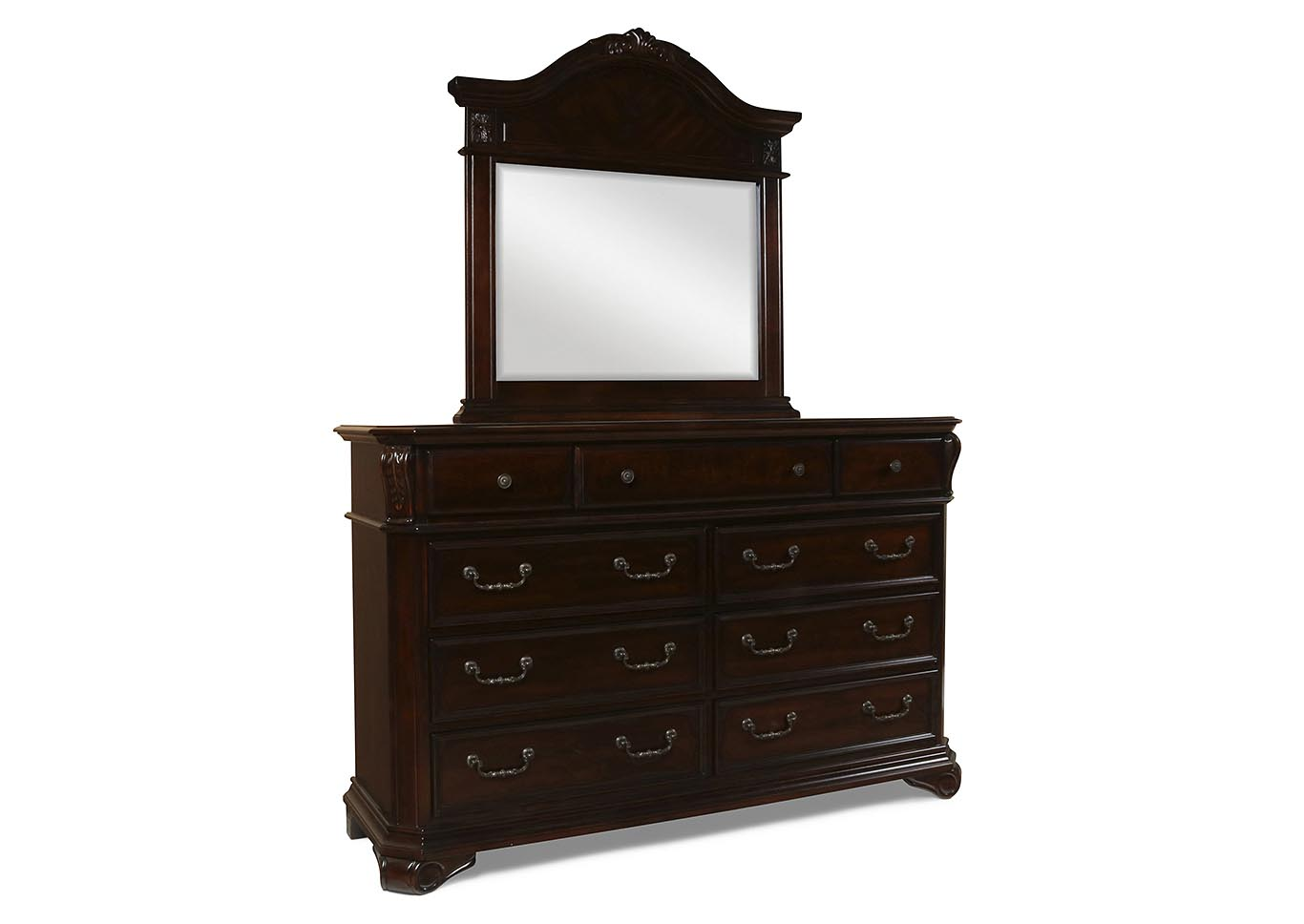 Emilie Tudor Brown Dresser and Mirror,New Classic