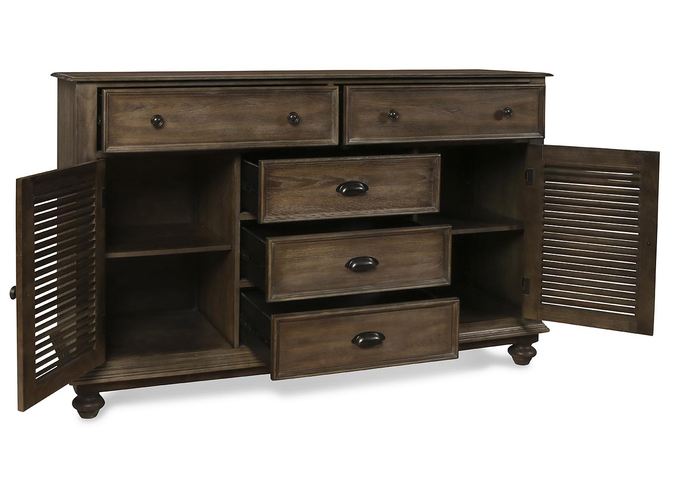 Lakeport Pewter Dresser,New Classic