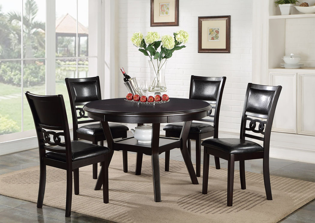 Gia Ebony Counter Dining 5 Piece Set,New Classic