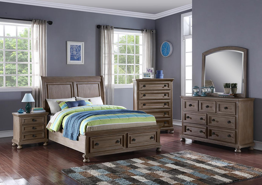 Allegra Pewter Youth Dresser,New Classic