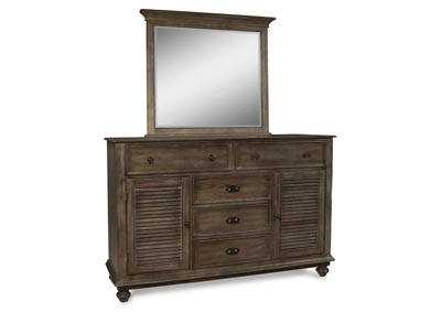 Lakeport Pewter Dresser and Mirror