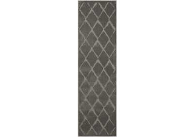 Image for Michael Amini Gleam MA601 Grey 8' Runner Hallway Rug