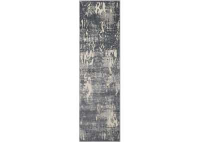Image for Michael Amini Gleam MA602 Grey 8' Runner Hallway Rug