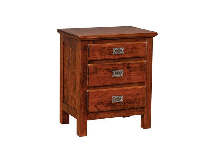 Lewiston 3-Drawer Nightstand by Daniels Amish,Old Brick