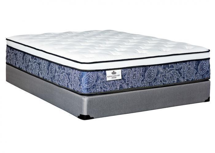 Welliver Eurotop twin mattress by Kingsdown,Old Brick