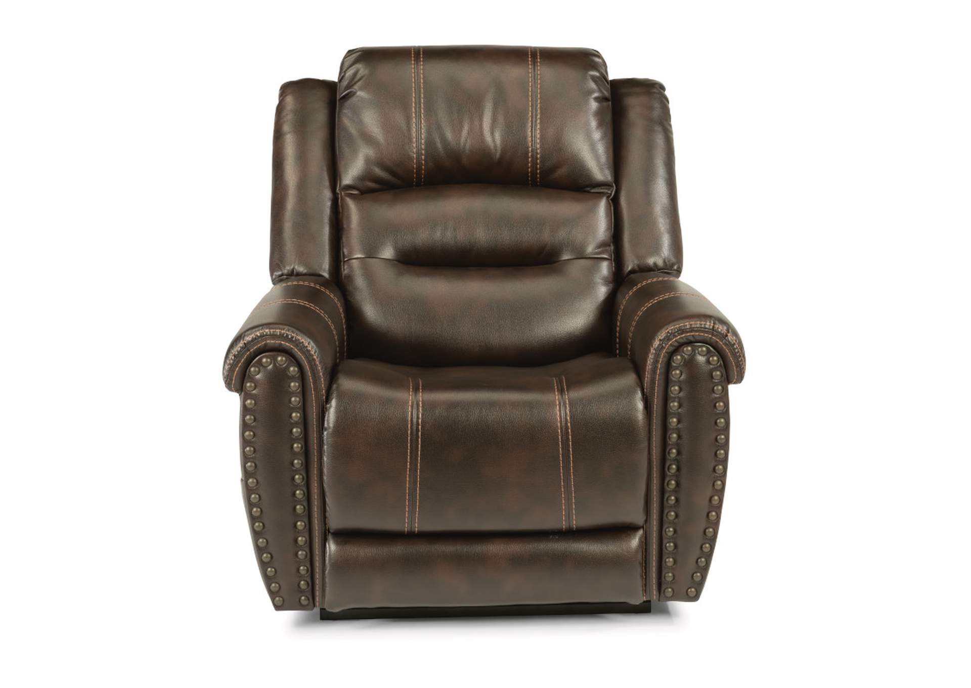 Oscar Triple Power Lift Recliner by Flexsteel,Old Brick