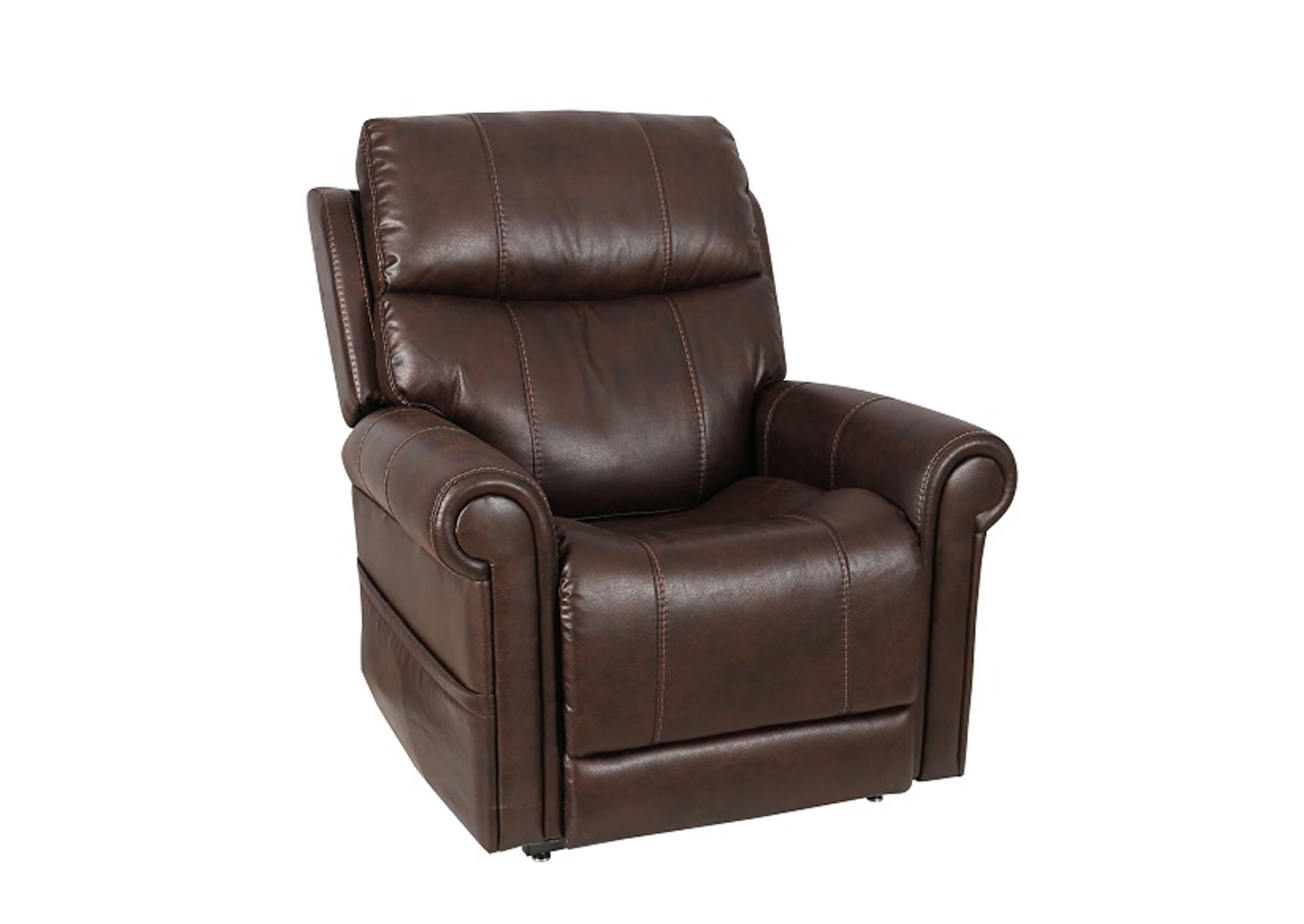 210 Double Power Lift Recliner by WMAS,Old Brick