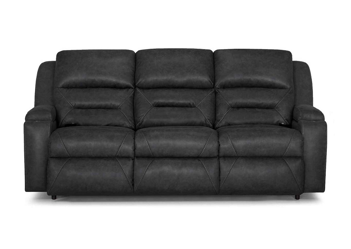 79847 Beacon Triple Power Recliner Sofa by Franklin,Old Brick
