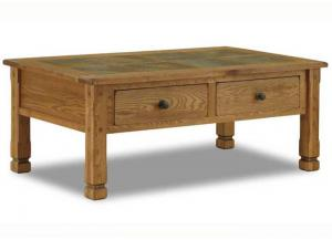 Image for Sedona Rustic Oak Coffee Table w/Slate Top