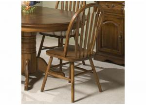 Image for Classic Oak Plain Arrow Back Dining Side Chair