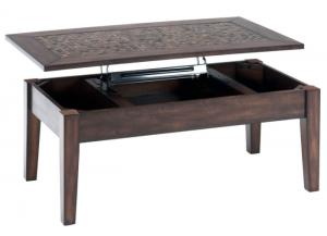 Image for Baroque Brown Lift Top Cocktail Table w/Mosaic Tile Inlay