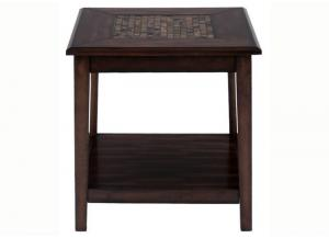 Image for Baroque Brown Dark Brown Mosaic Inlay End Table