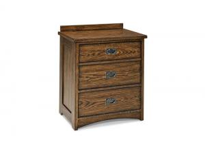 Image for Oak Park Solid Oak Mission Nightstand by Intercon