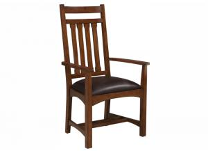 Image for Oak Park Mission Solid Oak Arm Chair by Intercon
