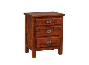 Lewiston 3-Drawer Nightstand by Daniels Amish