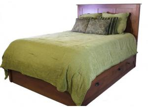 Image for Elegance Platform Queen Storage Bed by Daniels Amish